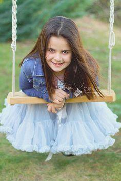 pretty girl in a swing