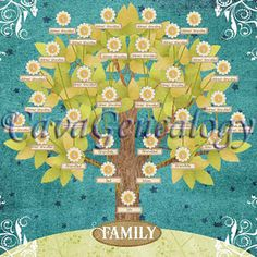 Magnetic family tree page #genealogy
