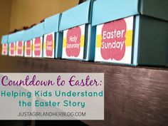 Love these Countdown to Easter & Lent ideas!