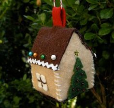 Christmas ornament idea--think the kids can do this, too. Cute!