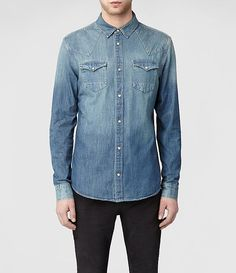 Riverman jeans shirt in indigo / by AllSaints