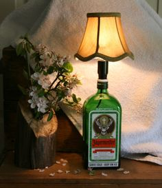 Liquor Bottle Lamp - Great for the College Dorm Room - Unique Gift for Young Adult
