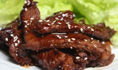 Recipe for Korean barbecue marinade -- my stomach growled as soon as I saw this picture!