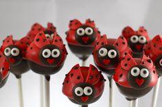 Ladybug cake pops, omg!