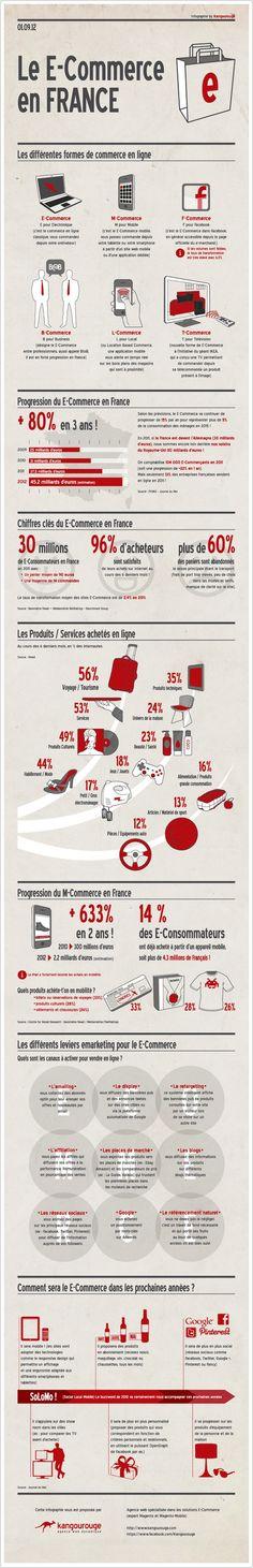 [infographie] E-commerce: les chiffres clés et les tendances en France