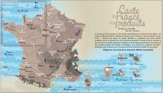 Carte de France des produits culinaires : à table !