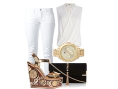 All white with brown wedges.