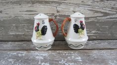 Vintage Set of Salt and Pepper Shakers Ceramic Chickens Hen and ...