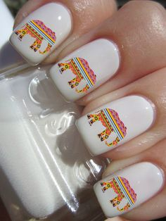 Tribal Elephant Nail Decals by PineGalaxy on Etsy