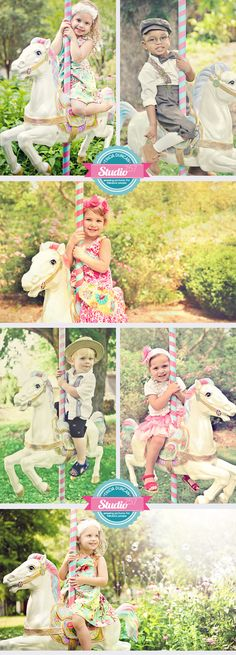 Cotton Candy Carousel Horse Mini Session | Chesapeake Arboretum @Andrea / FICTILIS / FICTILIS Lowe we really need to get our hands on one of these!