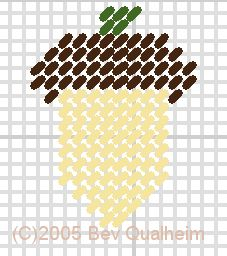 Plastic Canvas pattern: Acorn Fridgie (Bev Qualheim)