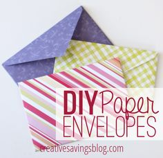 Have you ever tried making your own envelopes? These ones are so much prettier than plain white, and you can customize them for any occasion!
