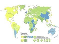 The world according to power outlets: | 38 Maps You Never Knew You Needed