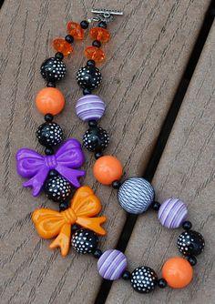 Toddler girls Halloween necklace