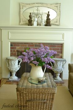 lilacs in the living room