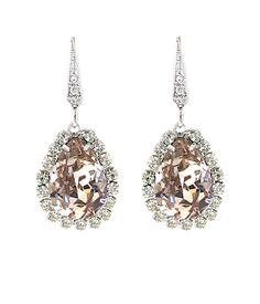 Ti Adoro-Blush Teardrop Earrings Bridal Earrings | Chandelier Earrings| Crystal Earrings| Wedding Jewelry | Couture Jewelry [11057-Blush] - $100.00 : Bella Bleu Bridal, Couture Bridal | Bridal Jewelry | Wedding Accessories
