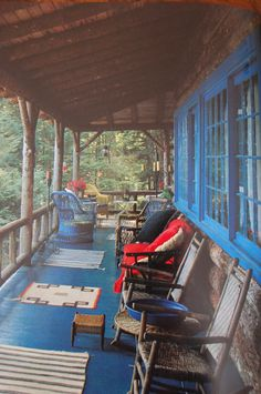 cabin, rocking chairs, dream porch, back porches, lake