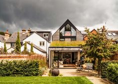Oxford house that puts a contemporary spin on the traditional gable.