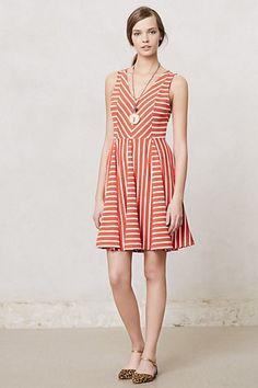 Striped Day Dress #anthropologie