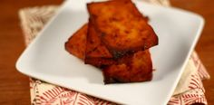 Spicy Baked Tofu -- we made this last night and it is SO good. Each slice is 1 WW pt+.