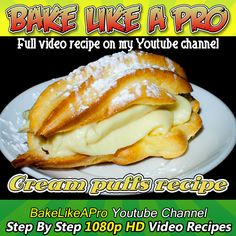 Easy Cream Puffs Recipe Please SUBSCRIBE: ► http://bit.ly/1ucapVH  I'll show you how to make puff pastry that you can turn into cream puffs and chocolate eclairs.  A very easy choux pastry to make.  I provide ingredient measurements in both Imperial and Metric units in all my new videos.  Thanks for watching !  ►My Facebook Page: http://www.facebook.com/BakeLikeAPro