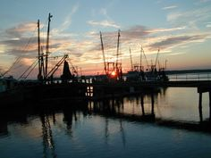 Shrimping boats in Beaufort, South Carolina