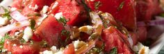 vinaigrett recip, watermelon salad, refresh watermelon, simpl recip, food, fresh market, summer salads, side dish, watermelons