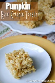 pumpkins, favorit recip, fall, rice krispies treats, krispie treats