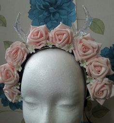 Ready made Pink rose icicle Antlers