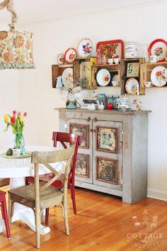 Crate wall shelves via A Sort Of Fairytale