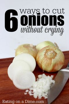 How to Cut Onions without Crying - these easy tips help me cut onions without shedding a tear. What do you do?