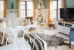 Our Joss & Main holiday sale is live featuring holiday home decor + furnishings to create a modern cottage look with a bit of glam. An elegant casual family room that is warm and cozy.