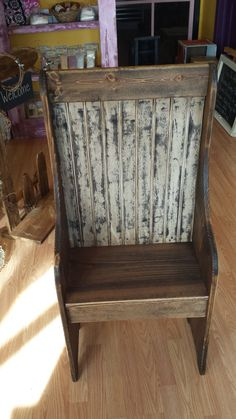 Beautiful Primitive Bench Seat.  This makes the perfect addition to an entranceway or porch. Can be customized to your dimensions and color. on Etsy, $78.00