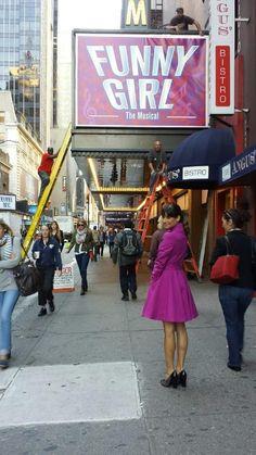 Lea filming in New York