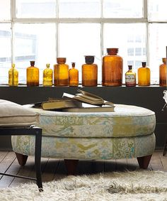 This Cousteau Serena Ottoman is perfect! #zulilyfinds