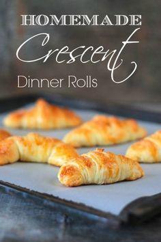 Homemade Crescent Dinner Rolls