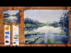 ▶ Intermediate step by step watercolor tutorial: Painting a Lake - YouTube +++