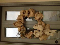burlap wreaths, burlap bliss, burlap obsess, beauti burlap, burlap crafts, burlap beauti, burlap christma, burlap stuff, craft ideas