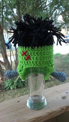 Frankenstein Halloween Costume Beanie Crocheted Hat