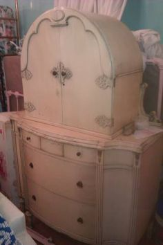 Pink Shabby Chic Armoire