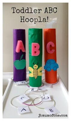 Toddler ABC Hoopla! Play based learning for #toddlers