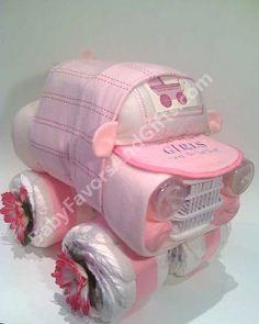 Girls Car Diaper Cake