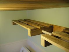 Pallets for a Laundry Room Shelf