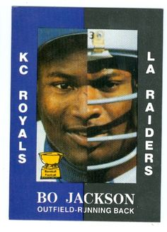 la+raiders | bo jackson baseball card 1990 aamer sports (los angeles raiders ...