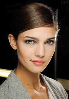 gray blue eyes.