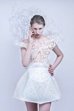 a 3D printed dress by Francis Bitoni you can make at home with a MakerBot!