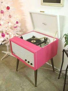 Cool pink phonograph