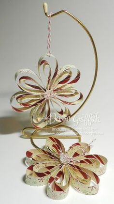 Paper Ornaments - So simple, great for the kiddies to do.                                                                                                                                                                                 More