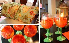 Fun party idea! love the tulip glasses!