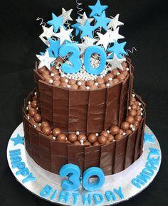Tiered 30th birthday cake... #30thbirthdaycake #happy30thbirthday